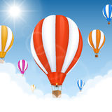 Balloons in the air. Vector Stock Photo