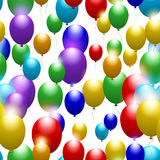 Balloons of all colors of the rainbow. Seamless festive pattern. Vector Royalty Free Stock Images