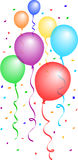 Balloons And Confetti 2/eps Royalty Free Stock Image