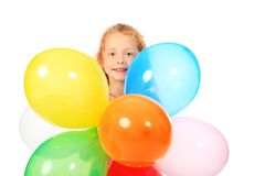 Balloons And Girl Royalty Free Stock Photo