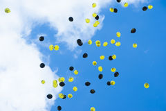 Balloons with Anti-Nuclear-Movement in the Sky Royalty Free Stock Image