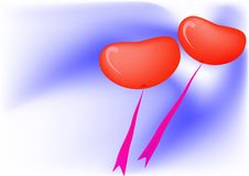 Balloons as a heart Stock Photography