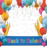 Balloons Back To School Pencil Letters Royalty Free Stock Photos