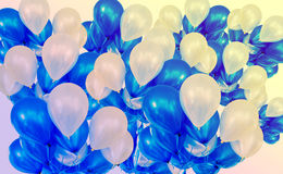 Balloons backdrop, hot shade color. Background Royalty Free Stock Photography