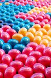 Balloons background. Colorful balloons arranged before released Royalty Free Stock Image