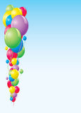 Balloons background. Colorful balloon background illustration frame Stock Photo