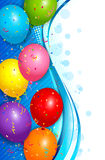 Balloons background Stock Images