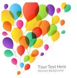 Balloons Background. Holiday Balloons Background, vector illustration for your design Stock Images