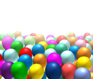 Balloons background isolated. Balloons in fading background isolated on white royalty free illustration