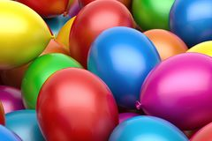 Balloons background. Red blue yellow pink balloons background Stock Image
