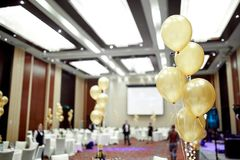 Balloons on the background restaurant stock photography