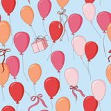 Balloons background, seamless pattern Royalty Free Stock Images