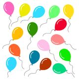 Balloons background seamless pattern illustration. Vector illustration of happy birthday party balloons pattern on white background Royalty Free Stock Photos