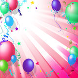 Balloons Background Shows Blank Space And Backdrop Royalty Free Stock Photos