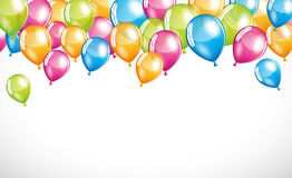 Balloons background. Vector balloons background banner element Royalty Free Stock Photography