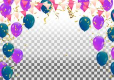 Balloons background. Vector illustration. Eps.10 Stock Photography