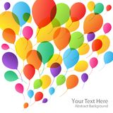 Balloons Background, vector illustration Stock Photography