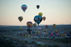 Balloons at a balloon festival royalty free stock photo