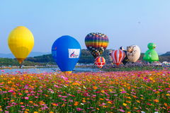 Balloons,Balloons in sky ,Balloon Festival,Singhapark International Balloon Fiesta 2017,Chiang Rai, Thailand Stock Photos