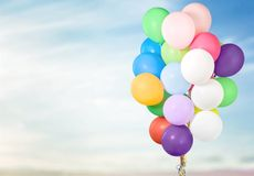 Balloons. Baloon bunch isolated decoration fly string Stock Photos