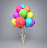 Balloons. Baloons isolated on a white background. 3d illustration Stock Photos