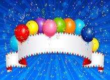 Balloons a bandeira Imagens de Stock Royalty Free