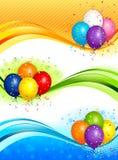 Balloons bandeiras Foto de Stock Royalty Free