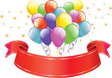 Balloons & Banner Stock Images