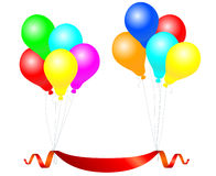 Balloons with banner Royalty Free Stock Images