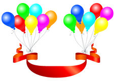 Balloons with banner Royalty Free Stock Photography