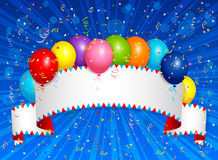 Balloons banner Royalty Free Stock Images