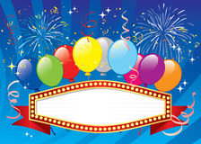 Balloons banner Stock Images