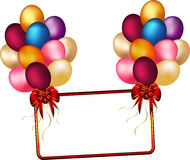 Balloons and banners Royalty Free Stock Images