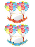 Balloons with Banners royalty free illustration