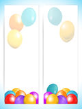 Balloons banners portrait background Royalty Free Stock Photo