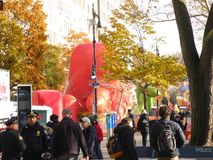 Thanksgiving Day Parade Balloons Inflating Royalty Free Stock Photos