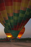 Balloons being inflated ready for take-off in Egypt Stock Photography