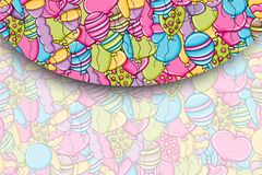 Balloons birthday and celebration concept in 3d cartoon doodle background design. Stock Images