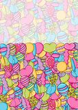 Balloons birthday and celebration concept in 3d cartoon doodle background design. Stock Photography