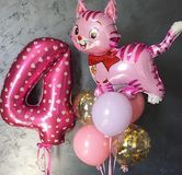 Balloons for congratulating a child 4 years old