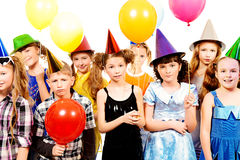 Balloons on birthday Stock Images