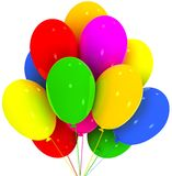 Balloons. Birthday and party decoration. Royalty Free Stock Photography