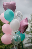 Balloons for birthday, wedding or other occasion Royalty Free Stock Photos