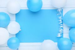 Balloons with blank paper