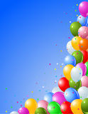 Balloons on a Blue Background Royalty Free Stock Image
