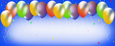 Balloons on a blue background. Multicolored balloons on a blue sky background Stock Photos