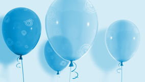 Balloons_035. Blue balloon rises cycle animation stock video footage
