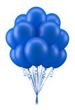 Balloons blue. Blue party balloons for birthday Royalty Free Stock Photo