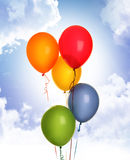 Balloons and blue sky Royalty Free Stock Images