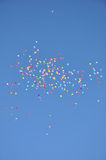 Balloons in the blue sky. Royalty Free Stock Photo